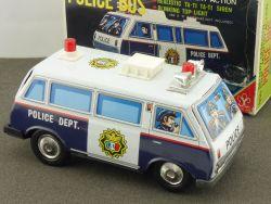Yonezawa Japan Mini Bus Police Dept.Car P.D.Blech tin toy rar OVP