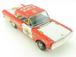 Taiyo Japan Ford Fire Chief Tin Toy Blechauto 60er TOP!