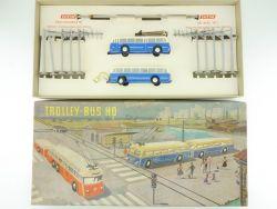 Brawa/Eheim 6102 Trolleybus Blau Oberleitungsbus 50er! TOP! OVP