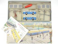 Brawa/Eheim 102 Trolleybus Blau Oberleitungsbus 50er! TOP! OVP