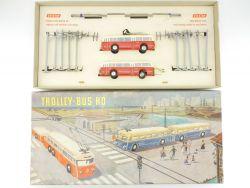 Brawa/Eheim 6102 Trolleybus Rot Oberleitungsbus 50er! TOP! OVP