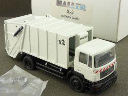Conrad MAN X-2 Haller Press-Müllwagen TGA M 1:50 NEU! OVP