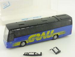 Rietze 61630 Volvo B 12 600 Grau Reisebus Homberg Reisen OVP