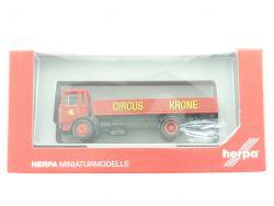 Herpa 155021 MAN F8 LKW Circus Krone Pritsche Krimes OVP