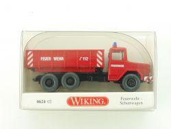 Wiking 0624 02 Magirus Deutz Schuttwagen Feuerwehr Mulde NEU OVP