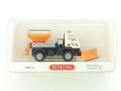 Wiking 0646 06 Mercedes MB Unimog U 20 Winterdienst Kommune OVP
