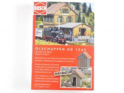 Busch 1545 Ölschuppen Bausatz Echtholz Modellbahn H0  OVP ST