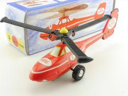 VEB Plasticart Fire Patrol Hubschrauber Blechspielzeug DDR  OVP SG