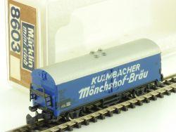 Märklin 8603 mini-club Kulmbacher Mönchshof-Bräu Bierwagen Z OVP