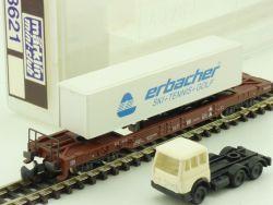 Märklin 8621 mini-club Erbacher Taschenwagen Auflieger OVP