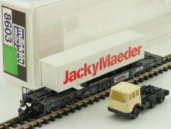 Märklin 8603 mini-club Jacky Meader Huckepackwagen LKW OVP