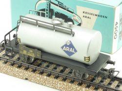 Märklin 4500 Kesselwagen Güterwagen silbern Aral 1968 800 TOP OVP