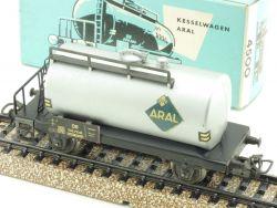 Märklin 4500 Kesselwagen Güterwagen silbern 1966 Aral 800 OVP