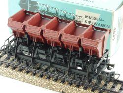 Märklin 4635 Muldenkippwagen Güterwagen DB Ommi 51 1968 TOP! OVP