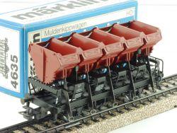 Märklin 4635 Muldenkippwagen Güterwagen DB Ommi 51 AC TOP OVP