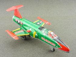 K Japan Lockheed F-104 Starfighter USAF tin litho plane rare