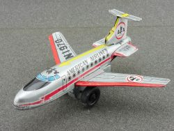 Ichimura Japan Boeing 727 AA American Airlines tin Airplane