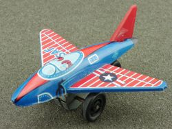 S2 Japan USAF Air Force tin litho airplane pennytoy 60er rare