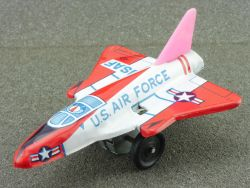 S2 Japan USAF Air Force tin litho Mirage jet fghter pennytoy