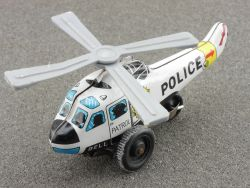 ND Japan Hubschrauber Helicopter Police Blech tin litho toy