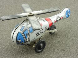 Japan Hubschrauber Helicopter US Rescue Blech tin litho toy
