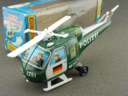 TPS Japan Hubschrauber Helicopter Polizei Blechspielzeug Box OVP