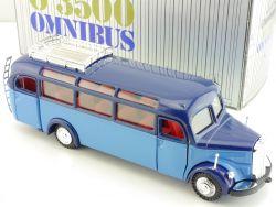 NZG 218 Mercedes O 3500 Oldtimer Bus Blau 1949 Omnibus 1:40 OVP