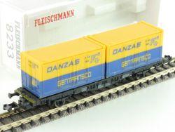 Fleischmann 8233 Containertragwagen Danzas DB Spur N OVP ST