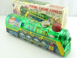 ST 1340 Piping Engine Express Tin Toy Loco Battery Japan 60er OVP