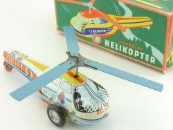 Lemez Hubschrauber Lendület Helikopter Ungarn Hungary Tin Toy OVP SG