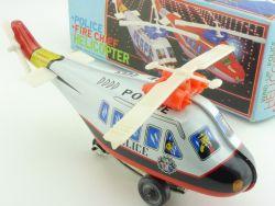 MTU Korea Hubschrauber Helicopter Police Blechspielzeug Uhrwerk OVP