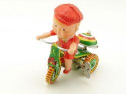 China PS-013 Dreirad Boy Tricycle Uhrwerk Blech Motorrad 70e ST