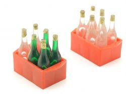 Getränkekisten Ladegut Blechspielzeug mit Flaschen Kaufladen