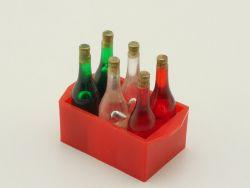 Getränkekiste Ladegut Blechspielzeug mit 6 Flaschen Kaufladen ST