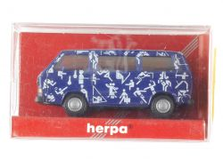Herpa 181860 Volkswagen T3 VW Bus Sportsymbole Piktogramme OVP