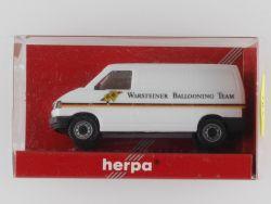 Herpa 045728 VW T4 Kasten Bus Warsteiner Ballooning Team NEU OVP ST