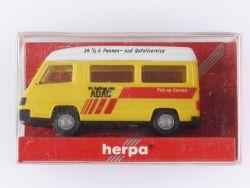 Herpa 041911 Mercedes-Benz 100 D Bus ADAC Pannen Unfallhilfe OVP