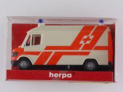 Herpa 042529 Mercedes MB 207 D Rettungsdienst Einsatzwagen  OVP