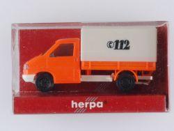 Herpa 042796 VW T4 Pritsche/Plane Feuerwehr Einsatzfahrzeug OVP