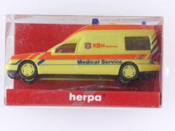 Herpa 044042 MB Mercedes Binz W 210 Rettungswagen KBH 1:87 OVP