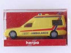 Herpa 045513 MB Mercedes Binz W 210 Rettungswagen 1:87 NEU! OVP