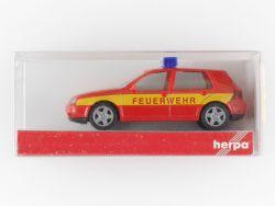 Herpa 048057 VW Golf IV Feuerwehr Modellauto 1:87 NEU! OVP ST