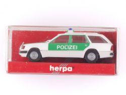 Herpa 041638 MB Mercedes 300 TE Polizei S124 Modellauto 1:87 OVP