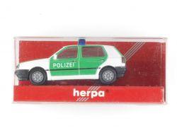Herpa 041850 VW Golf III CL Polizei Modellauto 1:87 NEU! OVP