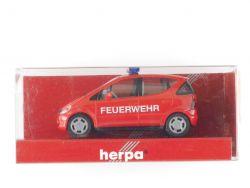 Herpa 044981 MB Mercedes A-Klasse 168 Feuerwehr Modellauto 1:87 OVP