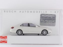 Busch 44203 Mercedes E-Klasse Limousine weiß Modellauto 1:87 OVP ST