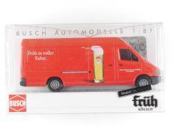 Busch 47842 Mercedes MB Sprinter Früh Kölsch Van 1:87 OVP ST