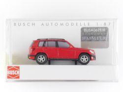 Busch 49750 Mercedes-Benz GLK-Klasse Modellauto Rot X 204 OVP
