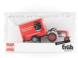 Busch 40063 Kramer Traktor Früh Kölsch Bier Anhänger 1:87 NEU OVP