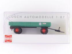 Busch 44975 Landwirtschaftlicher Anhänger Gummiwagen 1958 OVP ST